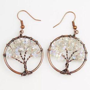 Natural bead tree earrings 🌳🌳